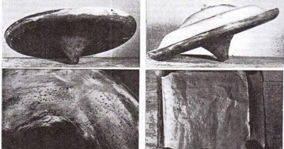 Le foto dell'UFO di Silpho Moor sulla stampa britannica, nel 1957.| DR. DAVID CLARKE