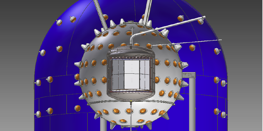 Disegno del rilevatore che sarà utilizzato per l'esperimento