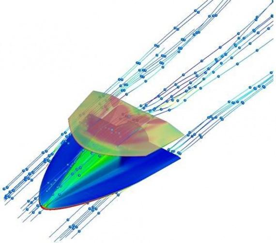 Due ali lavorano meglio di una. Nei test della galleria del vento, il profilo alare doppio dell'I-Plane ha dimostrato di avere una maggiore portanza e di gestire meglio le onde d'urto create quando l'aereo vola a velocità superiori a quelle del suono.| SCIENCE CHINA PRESS