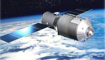 Una rappresentazione artistica della stazione spaziale Tiangong-1. Fonte: Esa. Crediti: Cmse/China Manned Space Engineering Office