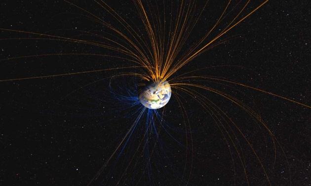 Le linee di campo magnetico che proteggono la Terra dalle radiazioni celesti: immagine concettuale.|NASA Goddard Space Flight Center, Flickr