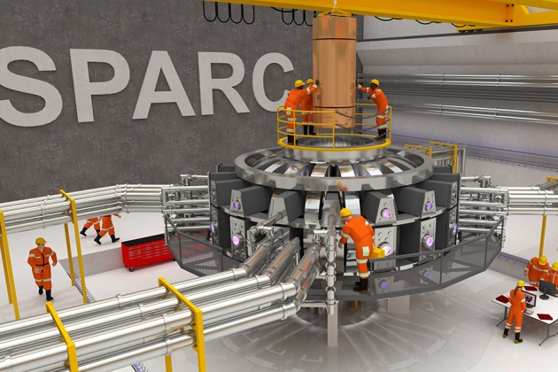 Un rendering dell'esperimento SPARC.|Ken Filar, MIT PSFC