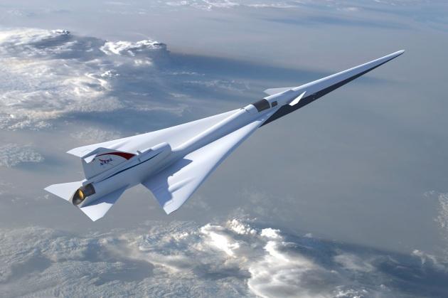 La particolare forma di ali e fusoliera permette all'X-plane di superare quasi silenziosamente il muro del suono.|NASA