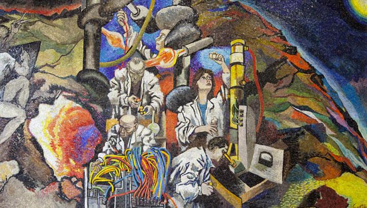 """Renato Guttuso, """"La ricerca scientifica"""", 1961,Fondazione Pirelli"""