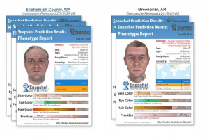 Due identikit ricostruiti a partire dai dati genetici. Ricostruzioni di questo tipo vengono già usate da alcune forze di polizia americane.| PARABON-NANOLABS