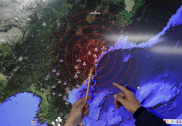 Le onde sismiche innescate da un test nucleare in Nord Corea.|KIM HONG-JI/REUTERS
