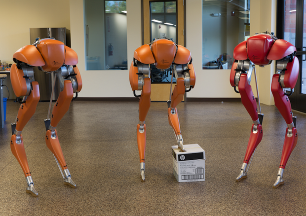 Un robot che cammina per le consegne a domicilio