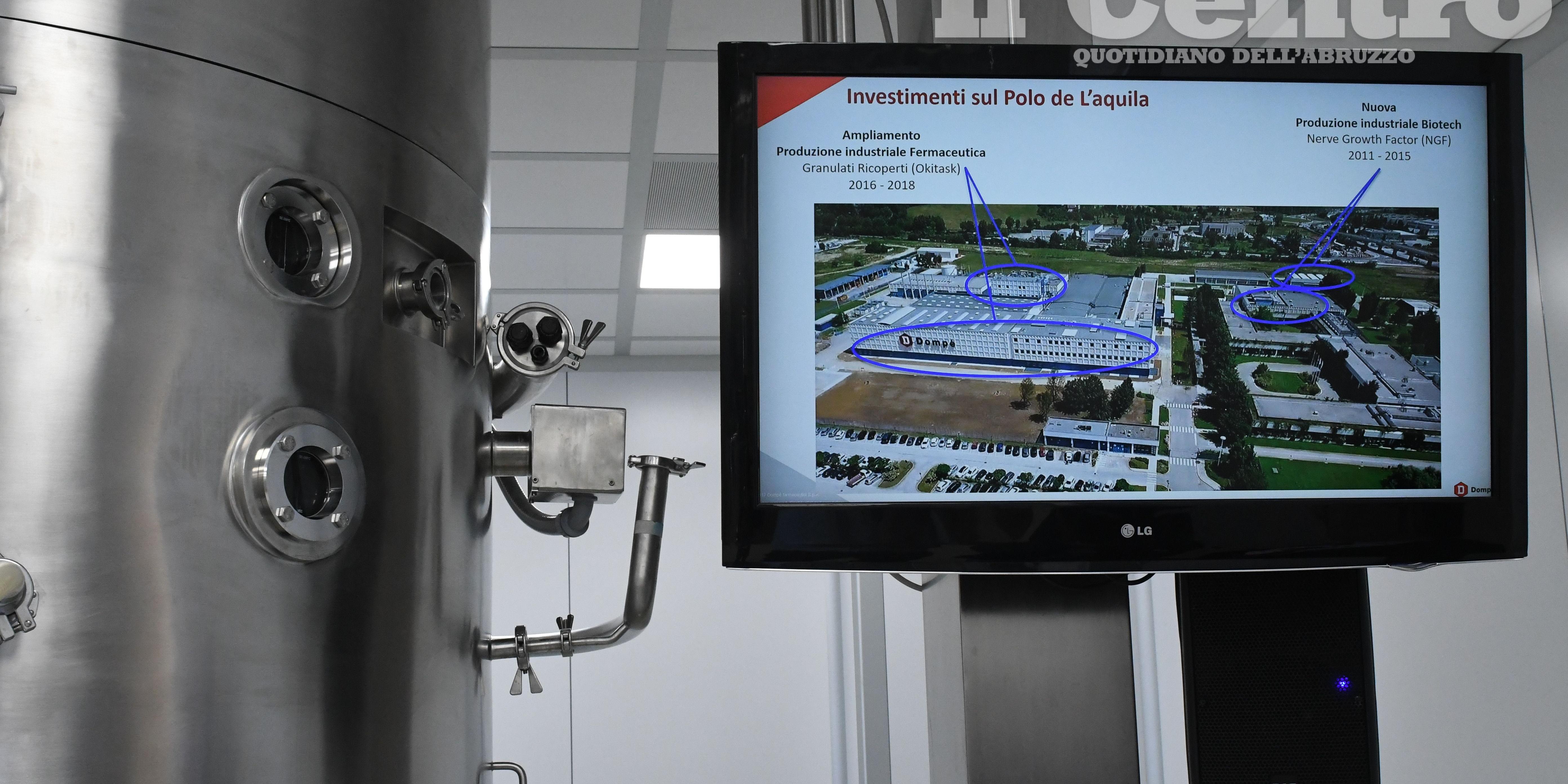 I laboratori della Dompé all'Aquila (foto di Claudio Lattanzio)