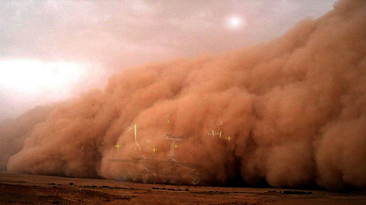 Tempesta marziana mette a riposo la sonda Opportunity