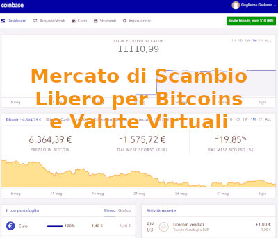 Mercato Libero per il trading online in bitcoins e monete virtuali