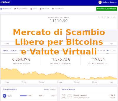 Mercato Libero per il trading in bitcoins e monete virtuali