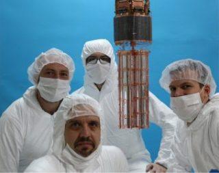 Quattro ricercatori del team di Cupid-0. Crediti: Ufficio comunicazione Infn