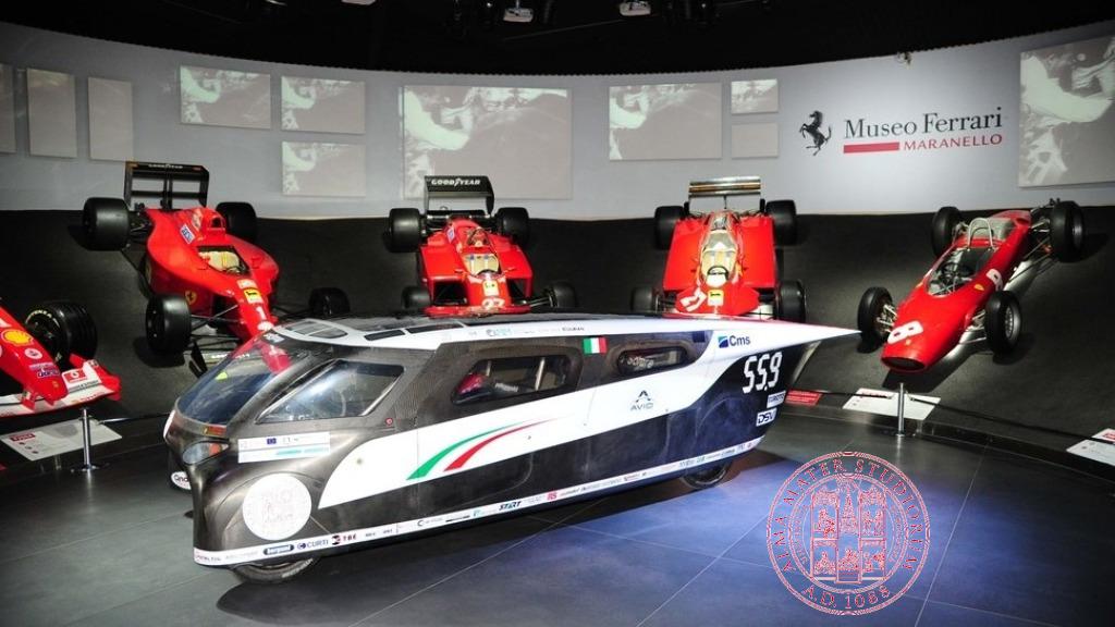 La squadra europea negli USA con l'auto Emilia 4 dell'Alma Mater