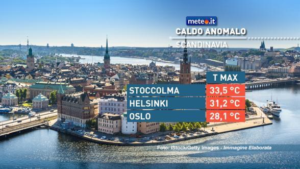 Caldo al mare in Scandinavia come nel Mediterraneo