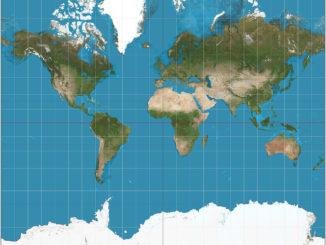 La mappa della Terra ridisegnata in modo proporzionale al piano