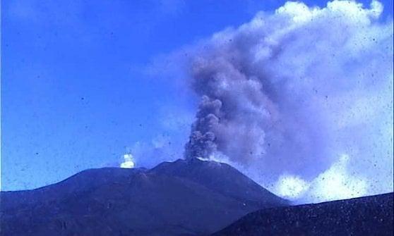 Il vulcano venerdì mattina
