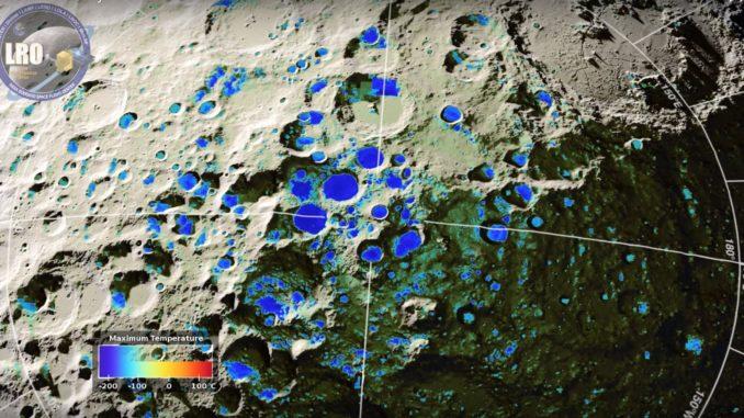 Trovata acqua nella zona d'ombra della Luna
