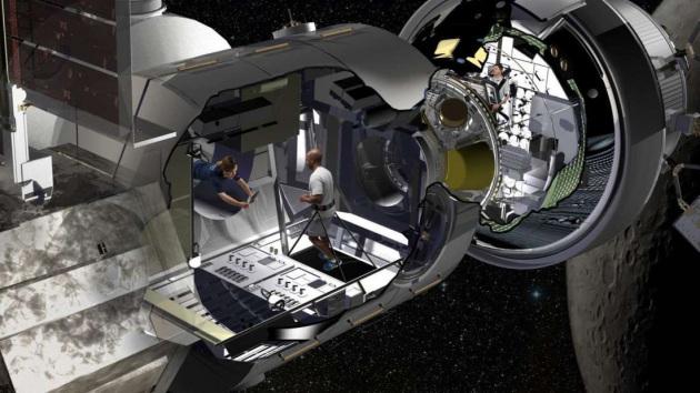 Il concept dell'habitat del Deep Space Gateway di Lockheed Martin.|Lockheed Martin