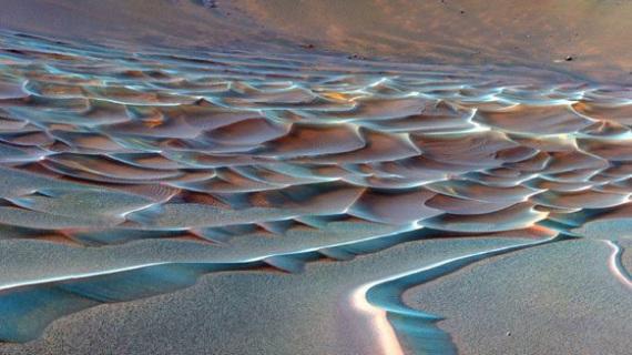 Dune create dal vento e attraversate dal rover | NASA