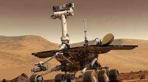 Opportunity sta lavorando sul pianeta rosso da quasi 15 anni. Dal 10 giugno però non lo si sente più in seguito ad una violenta tempesta di polvere che interessa quasi tutto il pianeta. | NASA