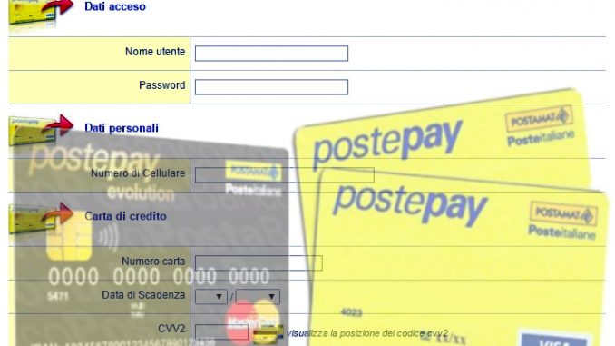Bad hackers svuotano carte postepay evolution con il pishing online