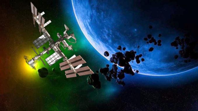 Un micrometeorite ha bucato la stazione spaziale internazionale