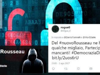 Problemi di privacy per la piattaforma Rousseau del M5S