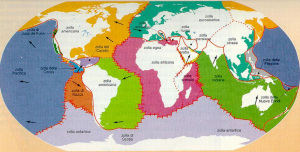 Le placche includono anche i continenti: Wegener riteneva invece che fossero solo i continenti a muoversi.