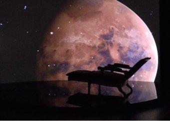 La poltrona osservativa di Schiaparelli in mostra. Crediti: Inaf