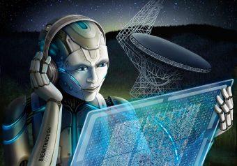 I ricercatori di Breakthrough Listen hanno utilizzato l'intelligenza artificiale per cercare nei segnali radio registrati i lampi radio veloci, individuandone molti più di quanto non potrebbero fare gli umani. Inoltre, stanno usando un algoritmo simile per cercare nuovi tipi di segnali candidati come segnali provenienti da civiltà extraterrestri. Crediti: Breakthrough Listen image