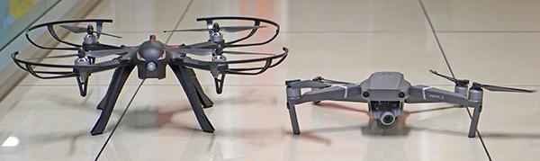 Un Mavic 2 Zoom (SAPR) e un drone giocattolo APR