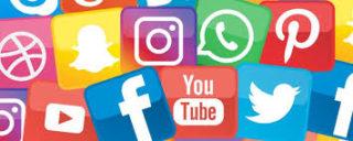Facebook, Twitter, Youtube, Whatsapp