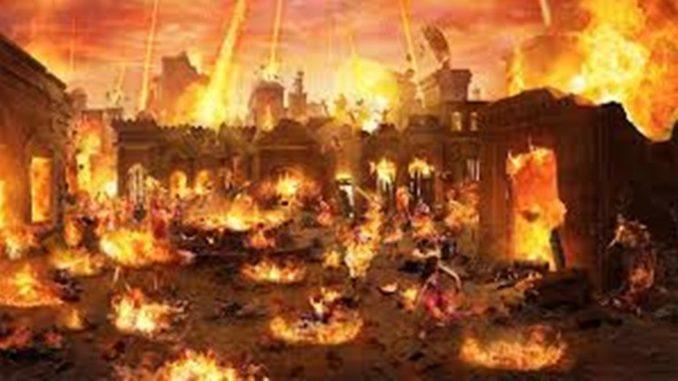 La pioggia di fuoco su Sodoma e Gomorra