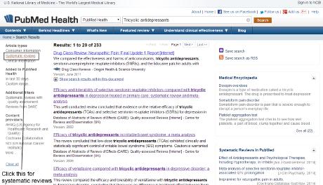 Risultati di una ricerca su PubMed, uno dei più importanti database online di articoli biomedici (Wikimedia Commons)