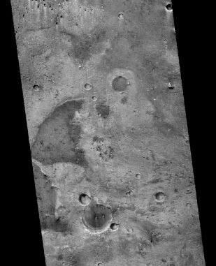 Un dettaglio di Oxia Planum. Crediti: Nasa/Jpl-Caltech/Msss