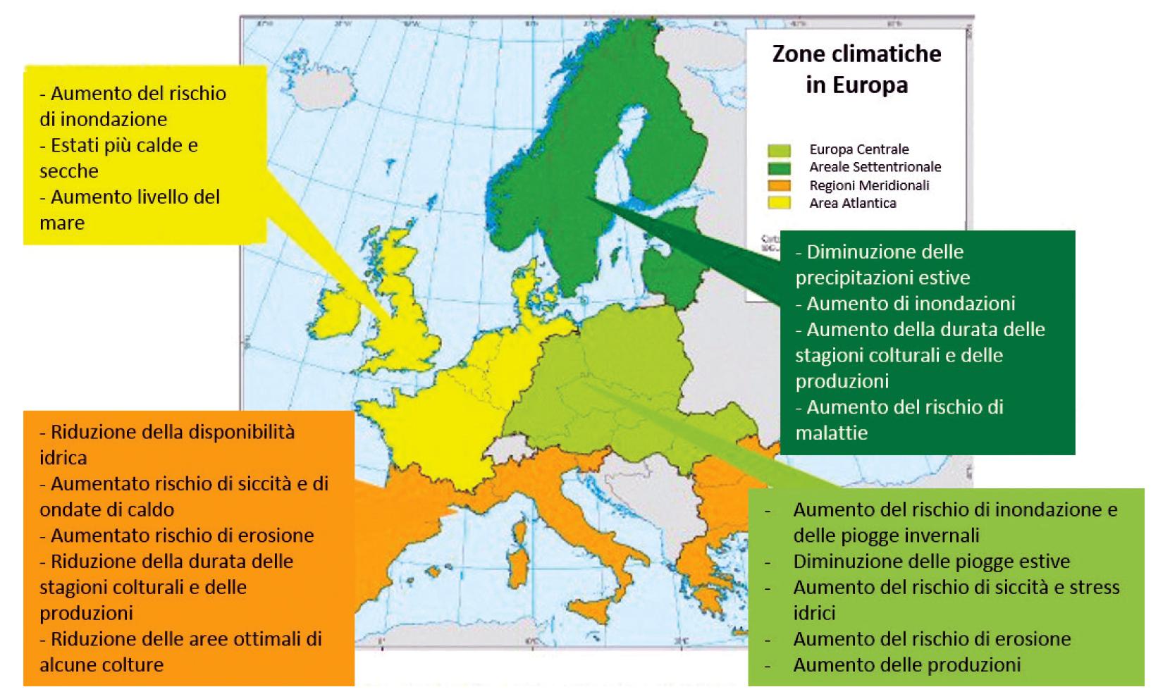 Aumento di temperatura nel Mediterraneo e suoi effetti climatici
