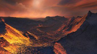 Rappresentazione artistica della superficie del pianeta. Crediti: Eso/M. Kornmesser
