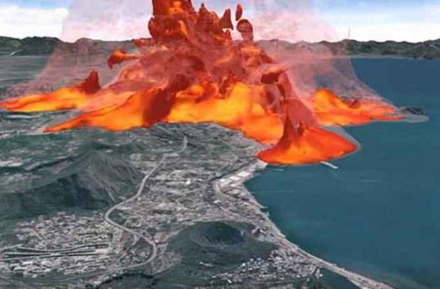 Elaborazione computerizzata di un evento eruttivo catastrofico dei Campi Flegrei.|INGV
