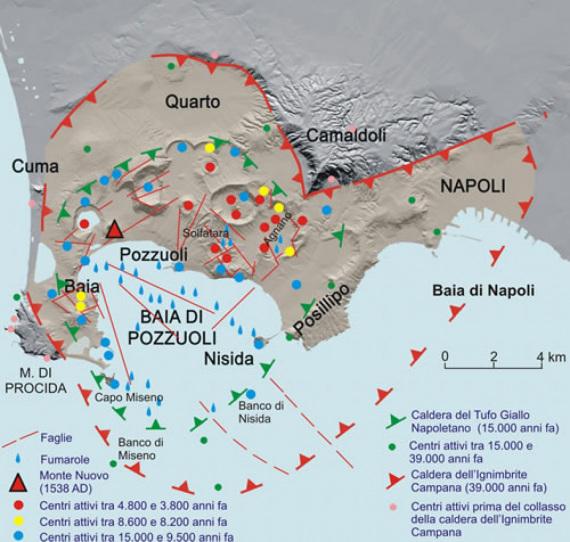 La ricostruzione geologica dell'area dei Campi Flegrei. | INGV