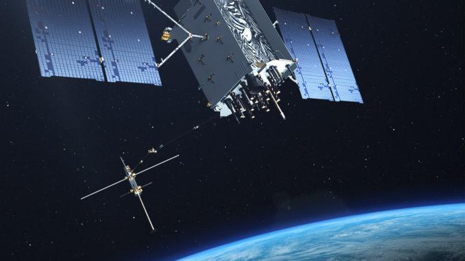 Un rendering del GPS 3 operativo. (C) Lockheed Martin