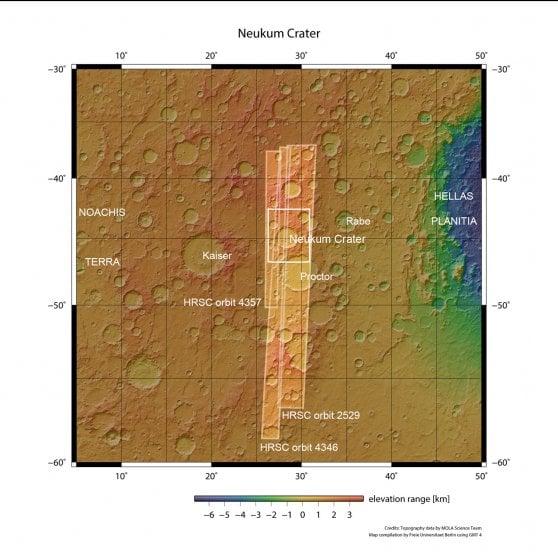 una spettografica di Marte