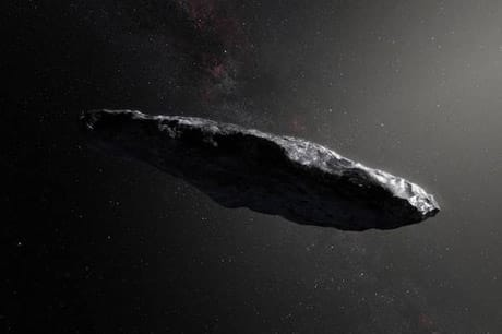 Il possibile aspetto dell'oggetto interstellare 'Oumuamua. (Credit: Goddard Space FLight Center/Flickr CC BY 2.0)
