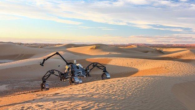 Rover SherpaTT durante il test sul campo del Marocco