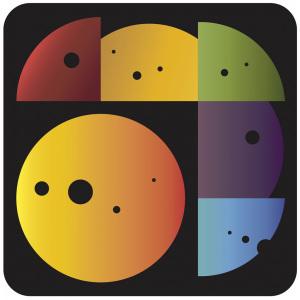 """Il logo del progetto CHEOPS, chiamato anche """"il misura-pianeti""""."""