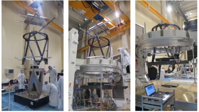 Integrazione della struttura di supporto dello specchio secondario di Euclid. Crediti: Airbus Defence and Space