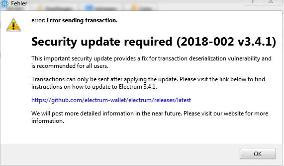 Security update required