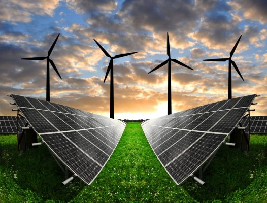 Mega deposito in grafite per l'energia solare ed eolica