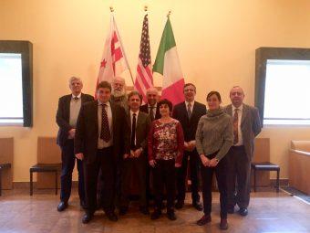 Da sinistra: Mauro Messerotti, Giovanni Pareschi, Fabrizio Capaccioni, Corrado Perna, Adriano Fontana, Giusi Micela, Luca Valenziano, Federica Bianco e Filippo Zerbi