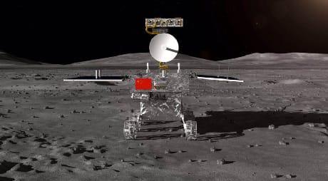 Il rover sul suolo lunare in un rendering computerizzato (CASC)