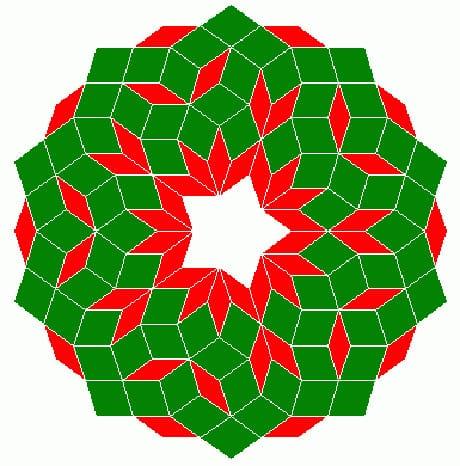 Una delle più famose tassellature dello spazio bidimensionale: la tassellatura di Penrose (Wikimedia Commons)